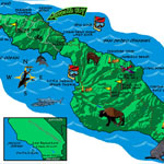 Map for a Boy Scout camp on Catalina Island